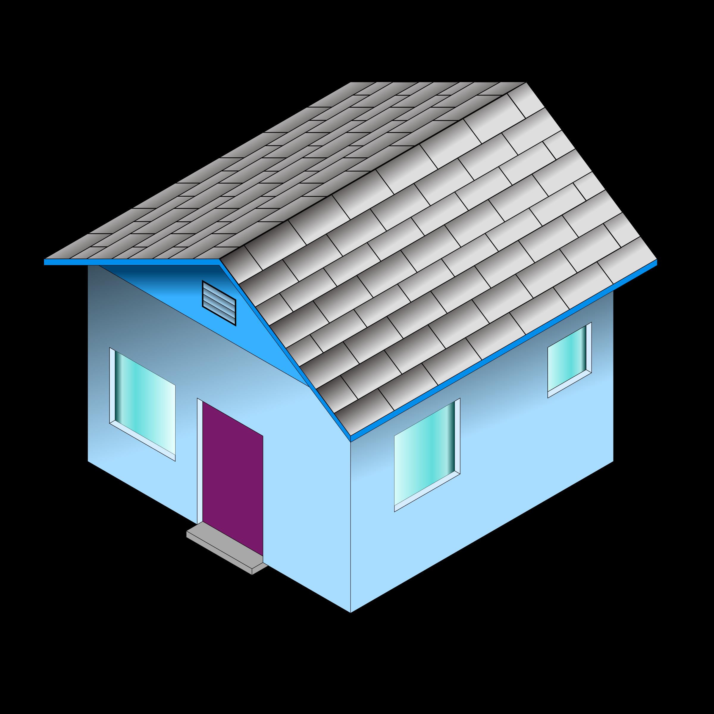 Blue house clipart clip art transparent Clipart - Small Blue House clip art transparent
