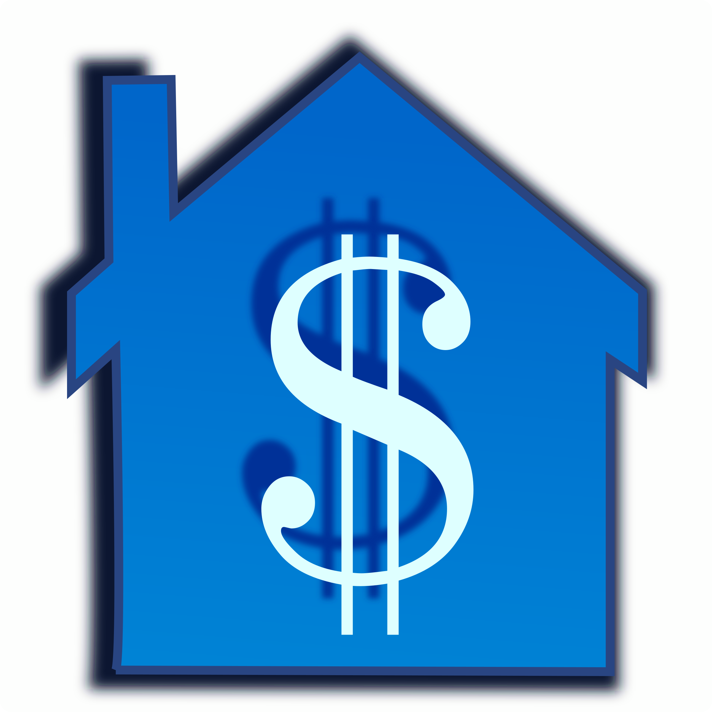 Blue house clipart graphic library download Clipart - home price graphic library download