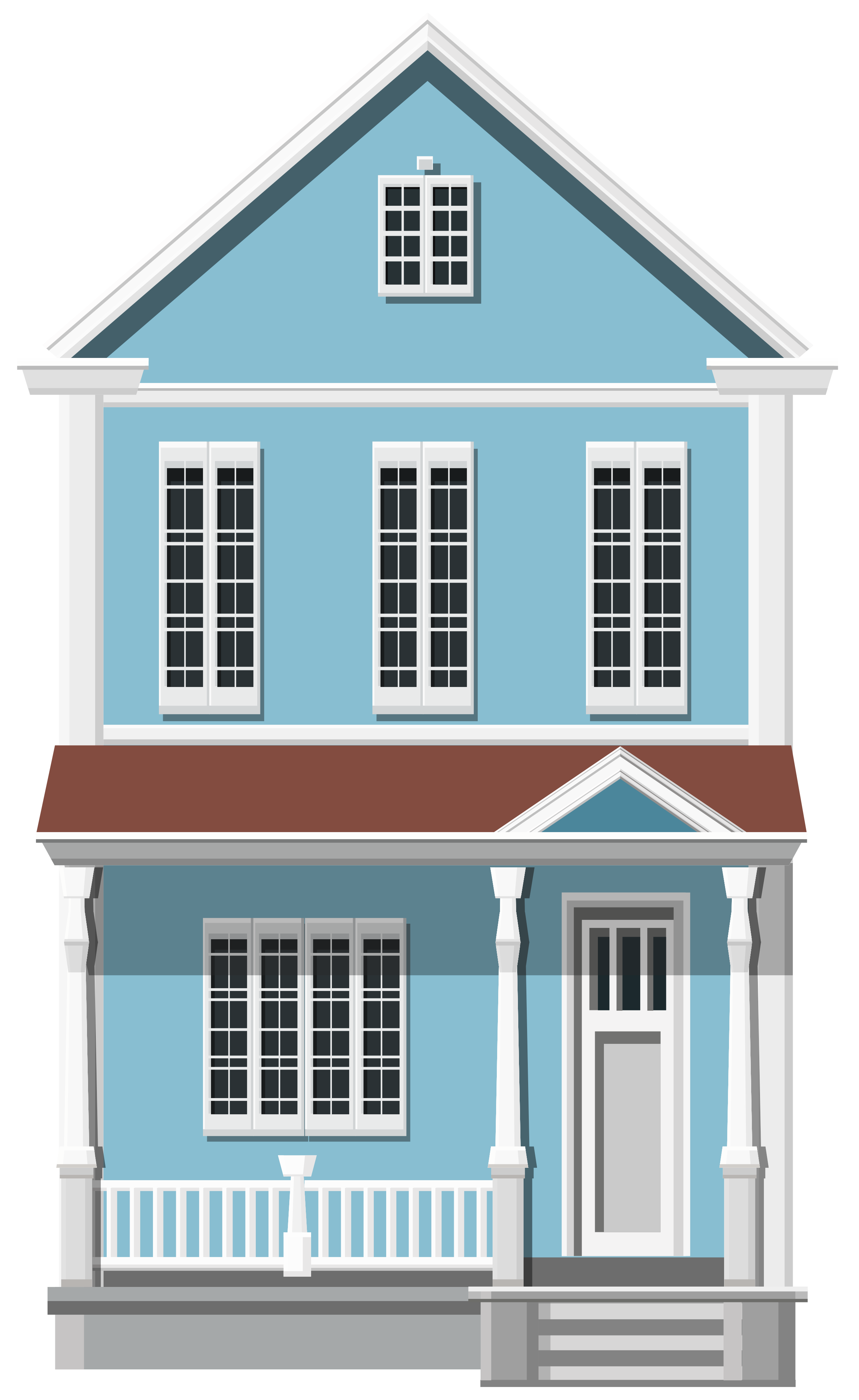 Blue house clipart jpg royalty free library Blue House PNG Clip Art - Best WEB Clipart jpg royalty free library