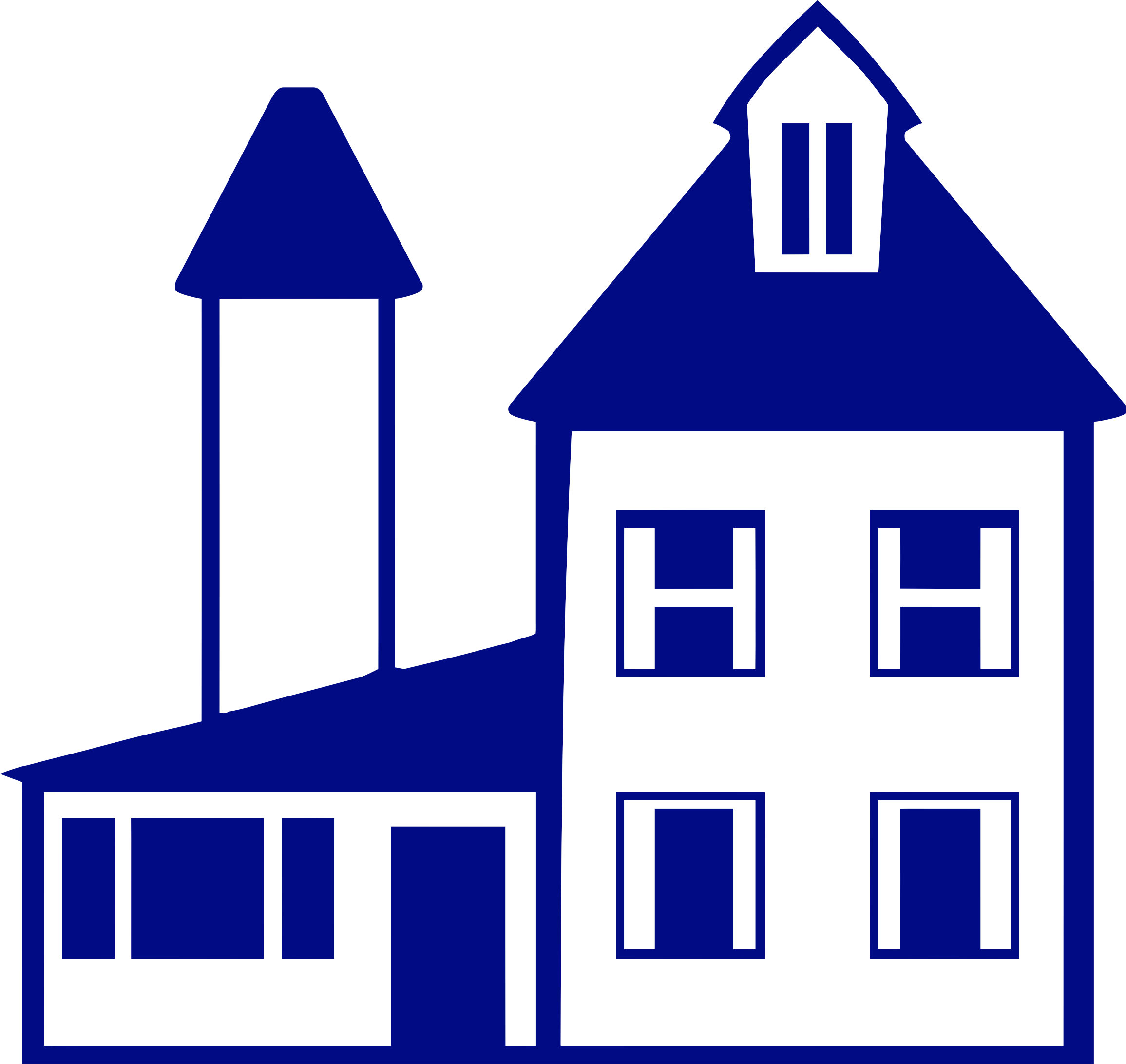 Blue house clipart clipart freeuse download Clipart - Blue House clipart freeuse download