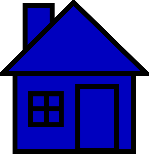 Blue house clipart clip free library Blue House Clip Art at Clker.com - vector clip art online, royalty ... clip free library