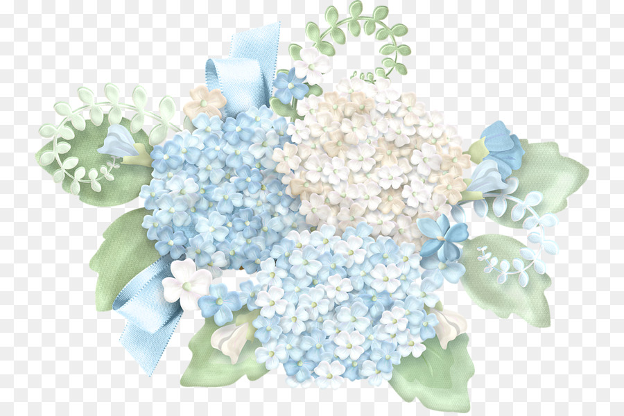 Blue hydrangea clipart free png black and white Floral Flower Background clipart - Flower, Blue, Hydrangea ... png black and white