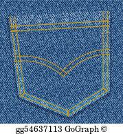Blue jean pocket clipart png library stock Jean Pocket Clip Art - Royalty Free - GoGraph png library stock