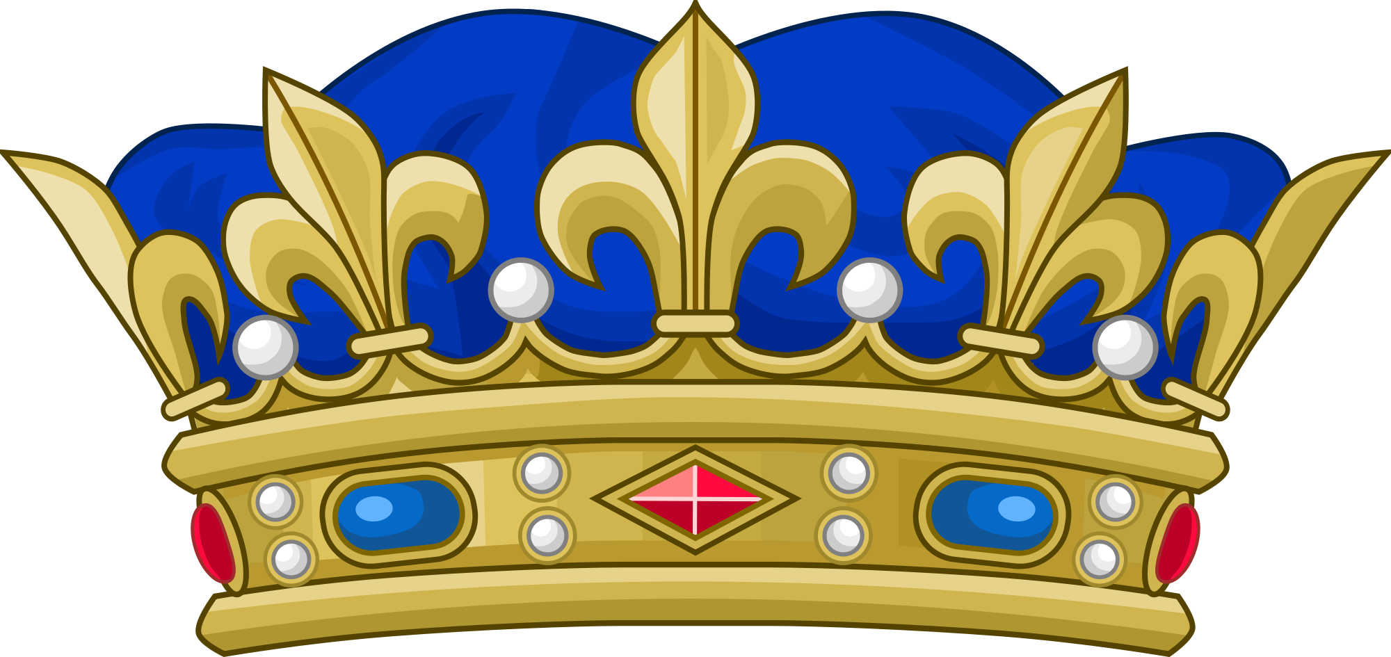 Golden and blue crown clipart svg free stock File:Crown of a Royal Prince of the Blood of France.svg - Wikimedia ... svg free stock