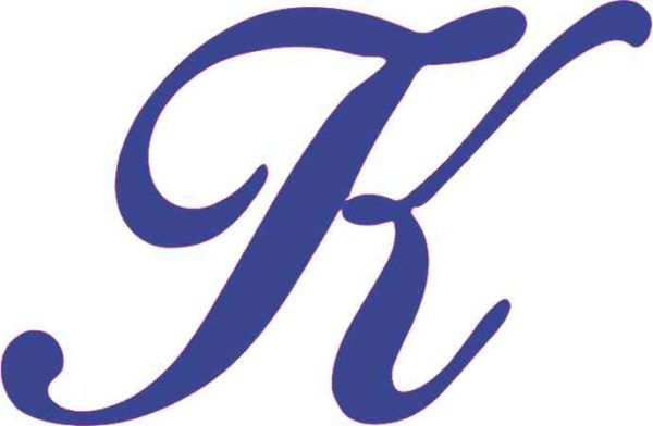 Blue letter cursive clipart jpg royalty free stock 4.5in x 3in Blue Cursive K Monogram Sticker Fancy Vinyl Truck Car ... jpg royalty free stock