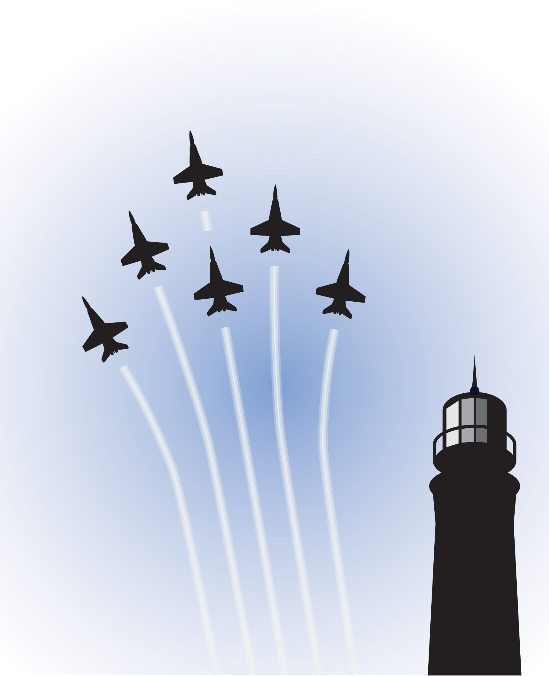 Blue light house clipart picture black and white download Clipart - Blue Angels over Lighthouse picture black and white download