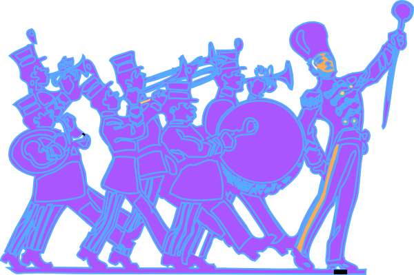 Blue marching band clipart picture black and white Free Marching Cliparts, Download Free Clip Art, Free Clip Art on ... picture black and white
