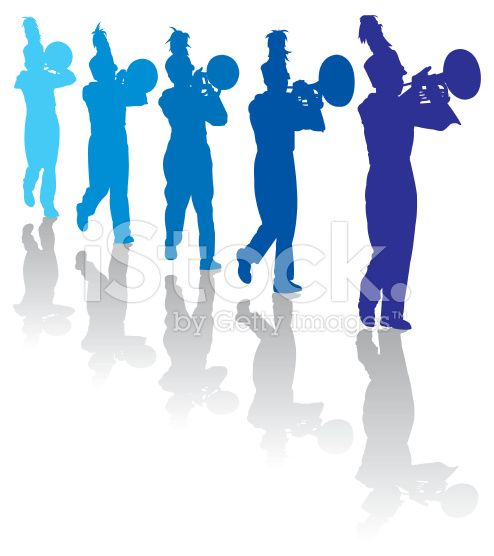Blue marching band clipart image library download Marching Band Clipart Trumpet - Gallery\
