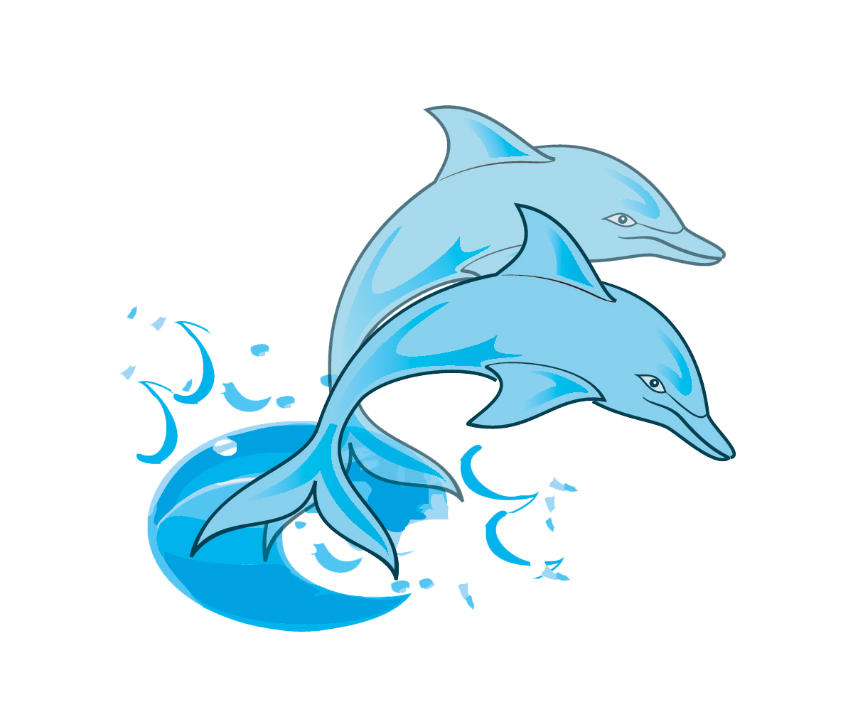 Dolphin Clipart For Kids at GetDrawings.com | Free for personal use ... banner black and white library