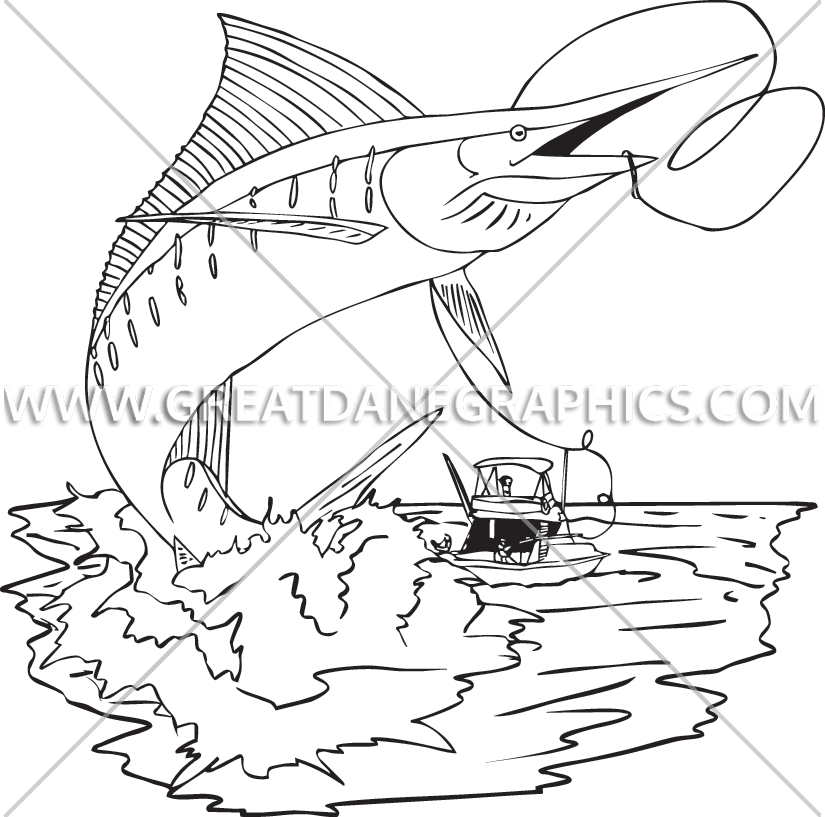 Marlin Fishing | Production Ready Artwork for T-Shirt Printing png free download