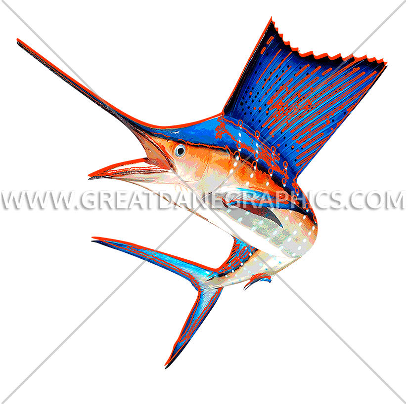 Wahoo fish clipart jpg freeuse library Funky Sailfish | Production Ready Artwork for T-Shirt Printing jpg freeuse library