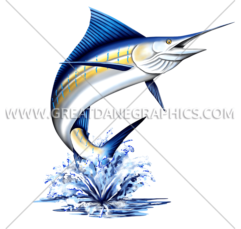 Blue marlin fish clipart clip black and white library Marlin | Production Ready Artwork for T-Shirt Printing clip black and white library