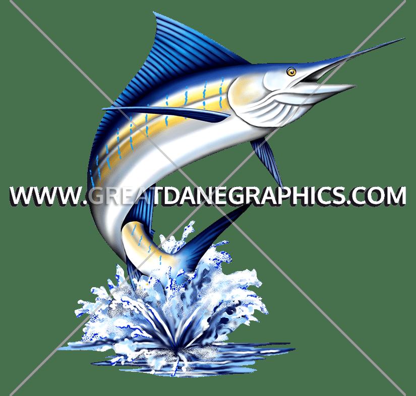 Blue marlin fish clipart
