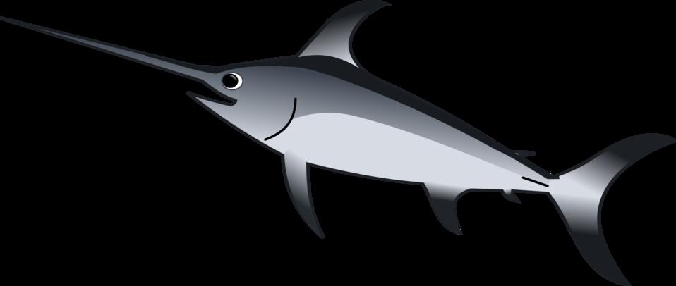 Blue marlin fish clipart clipart black and white library Public Domain Clip Art Image | Xiphias Gladius | ID: 13534079413930 ... clipart black and white library