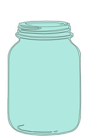 Blue mason jar clipart png library stock mason jar clipart for catching bee-havior board (from a teacher ... png library stock
