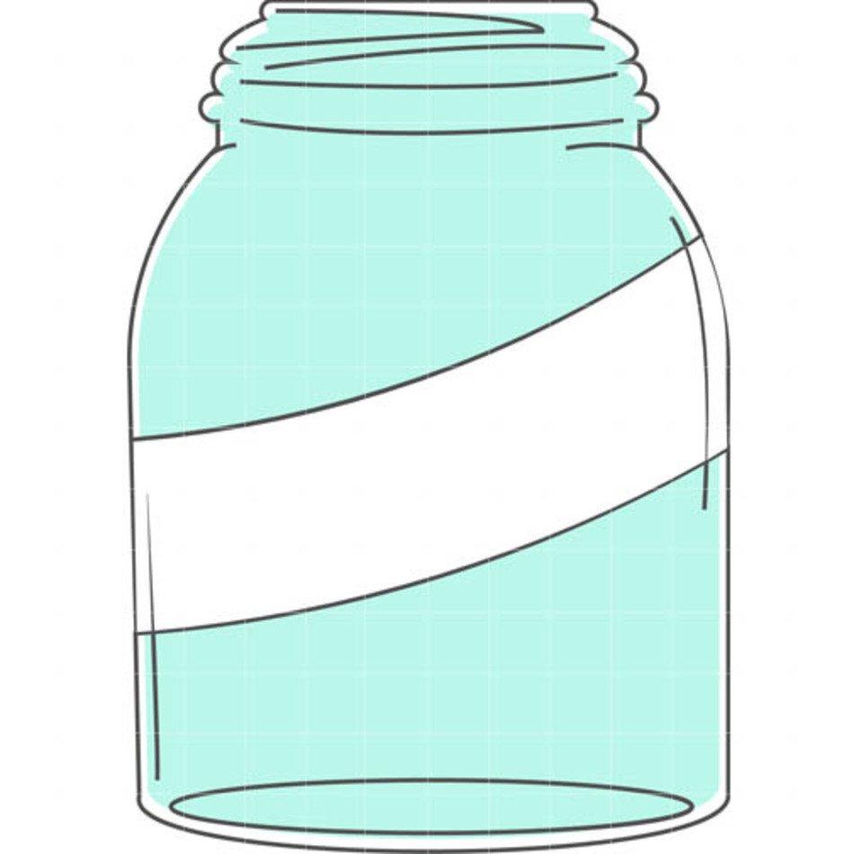 Blue mason jar clipart graphic black and white stock Blue Mason Jar Clip Art N2 free image graphic black and white stock