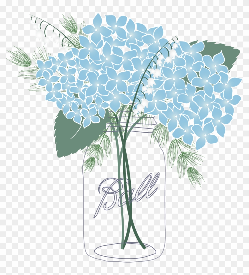 Blue mason jar clipart svg free stock Shocking Mason Jar Clipart Blue Flower Picture Of Coloring ... svg free stock