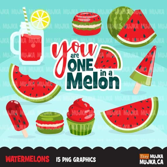 Blue melon clipart kawaii free download Melon Clipart, Watermelon graphics, one in a melon, popsickle ... free download
