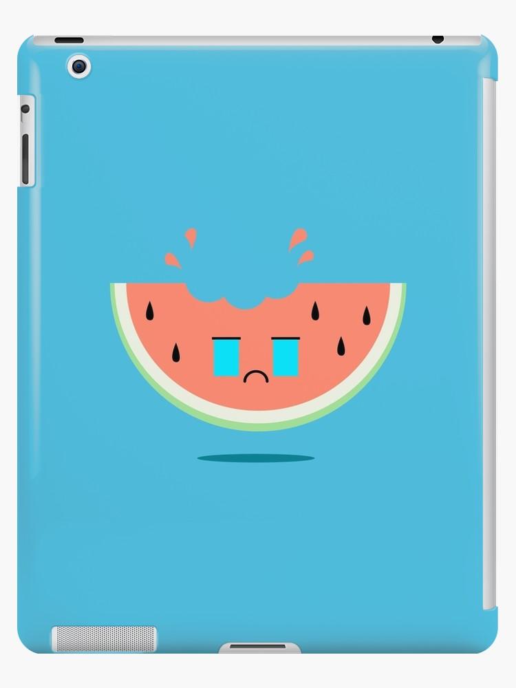 Blue melon clipart kawaii image free stock \'Watermelon Kawaii Crying\' iPad Case/Skin by beyondthemoon image free stock