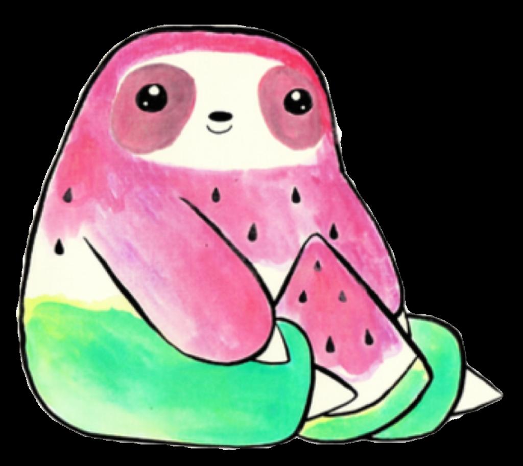 Blue melon clipart kawaii image free download sloth animal nature cute kawaii fruit watermelon melon... image free download