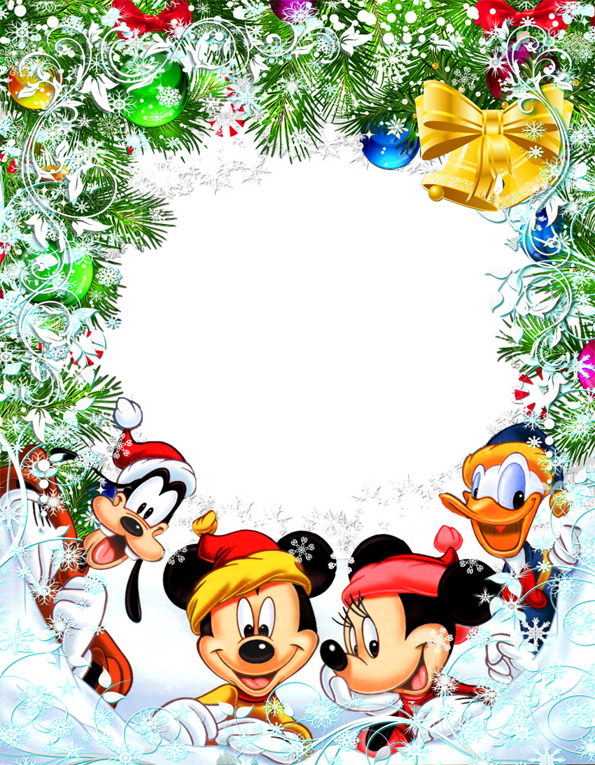 Transparent star frame with. Disney christmas clipart