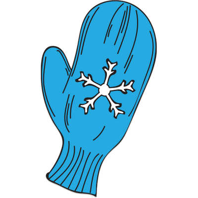 Blue mitten clipart png library download Single Blue Mitten With Snowflake Decoration transparent PNG - StickPNG png library download