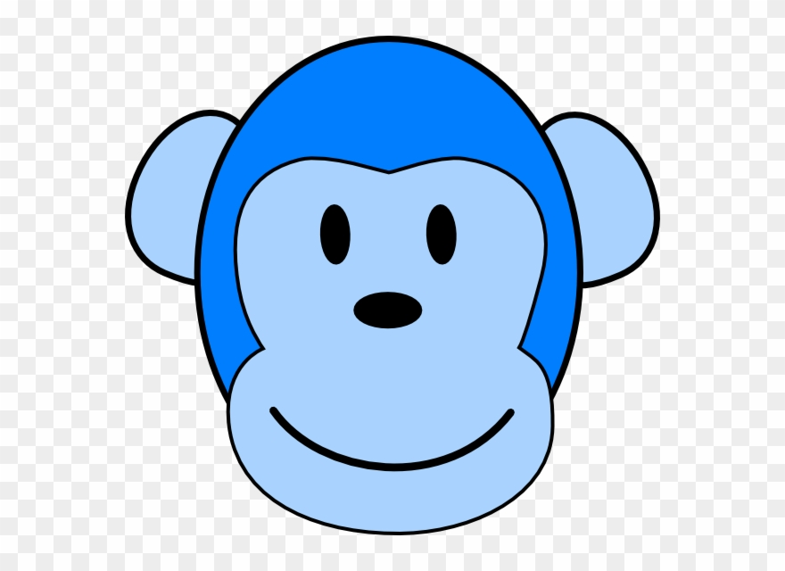 Blue monkey clipart vector freeuse download Blue Monkey Face Clipart - Png Download (#1071175) - PinClipart vector freeuse download