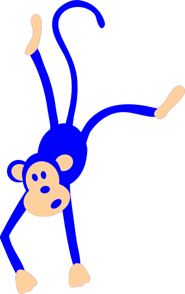 Blue monkey clipart svg royalty free stock Blue Monkey PNG, SVG Clip art for Web - Download Clip Art, PNG Icon Arts svg royalty free stock