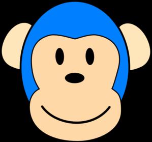 Blue monkey clipart