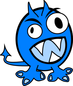 Blue monster clipart graphic black and white stock Blue Monster Clip Art at Clker.com - vector clip art online, royalty ... graphic black and white stock