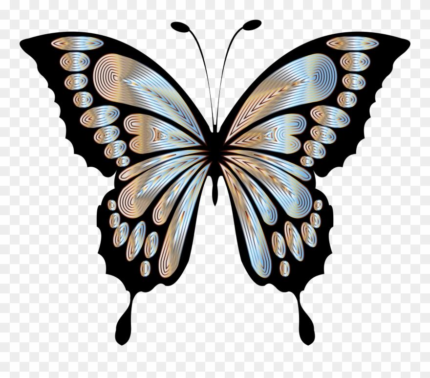 Blue morpho butterfly clipart black and white banner free stock Big Image - Blue Morpho Butterfly Clipart - Png Download (#1337821 ... banner free stock