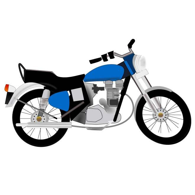 Blue motorcycle clipart transparent BLUE MOTORCYCLE - Free vector image in AI and EPS format. transparent