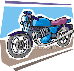 Blue motorcycle clipart banner free download Big, Bright Blue Motorcycle - Royalty Free Clipart Picture banner free download