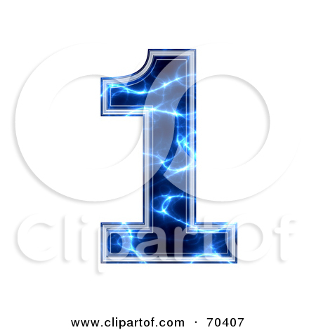 Blue number 1 clipart clipart black and white Royalty-Free (RF) Clipart Illustration of a Blue Electric Symbol ... clipart black and white