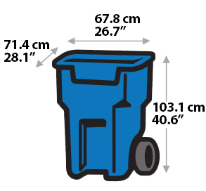 Blue number 1 clipart clip black and white download Houses - Garbage & Recycling - Services | City of Toronto clip black and white download