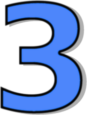 Blue number clipart vector freeuse stock Number Three Clipart | Free download best Number Three Clipart on ... vector freeuse stock