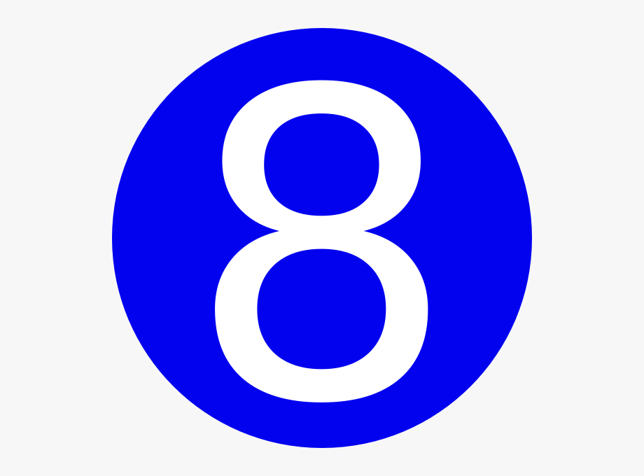 Blue number clipart graphic library download Blue Number 8 Clipart - Number 8 In Blue Circle #268576 - Free ... graphic library download
