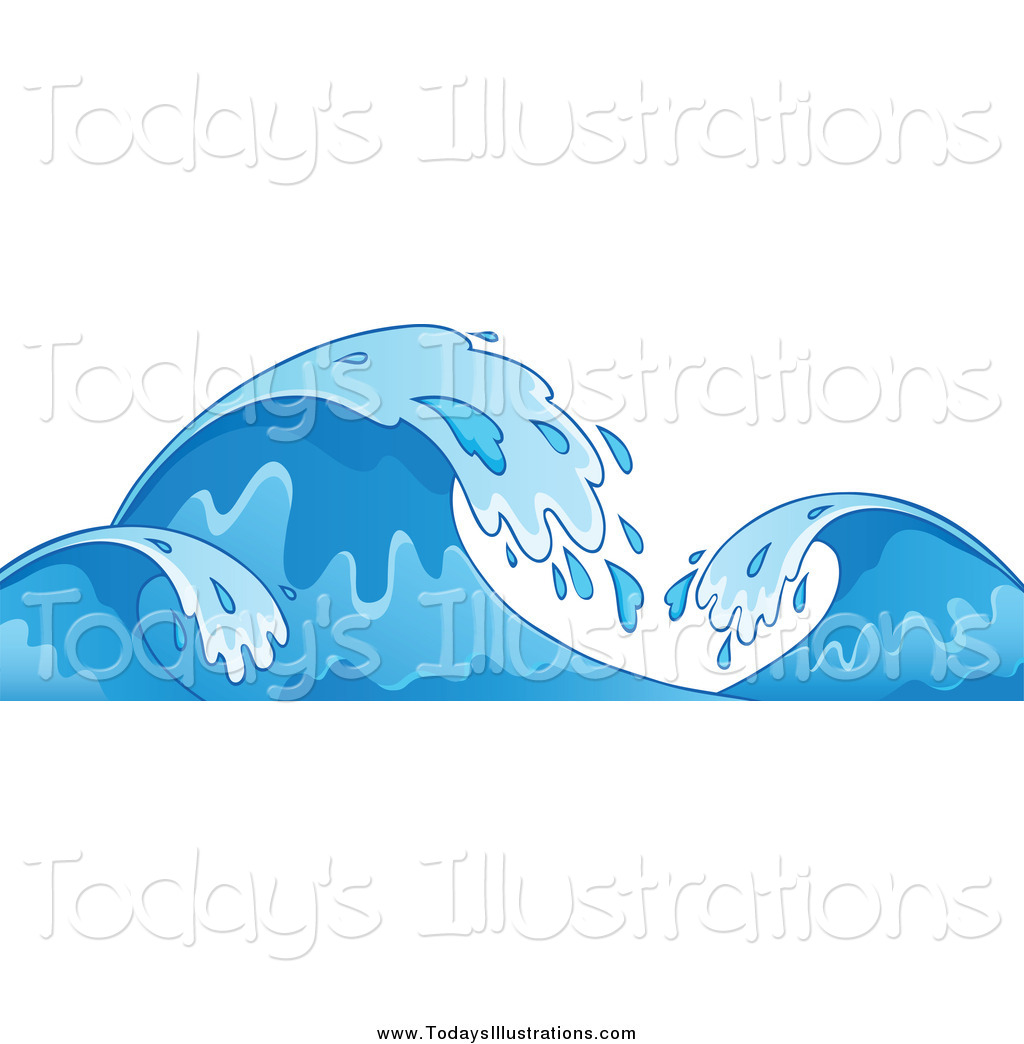 Blue ocean clipart svg library stock Clipart of Blue Ocean Waves by visekart - #6755 svg library stock