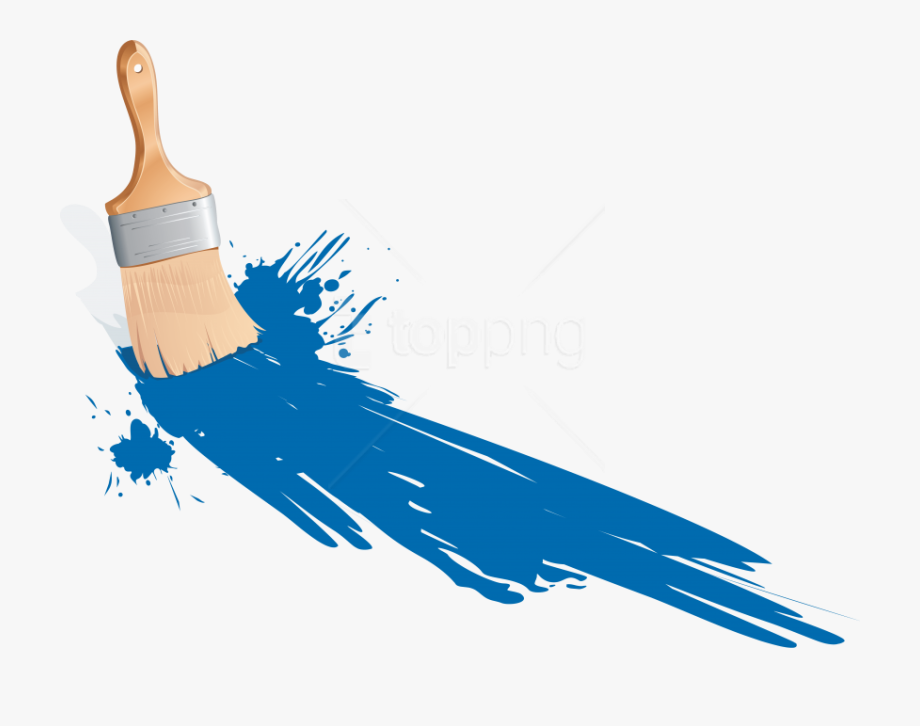 Blue paint brush clipart vector transparent download Free Png Download Paint Brush Clipart Png Photo Png - Paint Gif ... vector transparent download