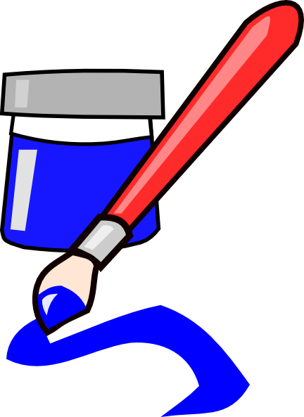 Blue paint brush clipart vector library library Blue Paintbrush Clip Art at Clker.com - vector clip art online ... vector library library