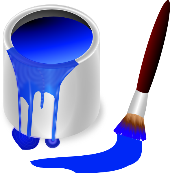 Blue paint brush clipart clipart free library Blue Paint Brush And Can Clip Art at Clker.com - vector clip art ... clipart free library