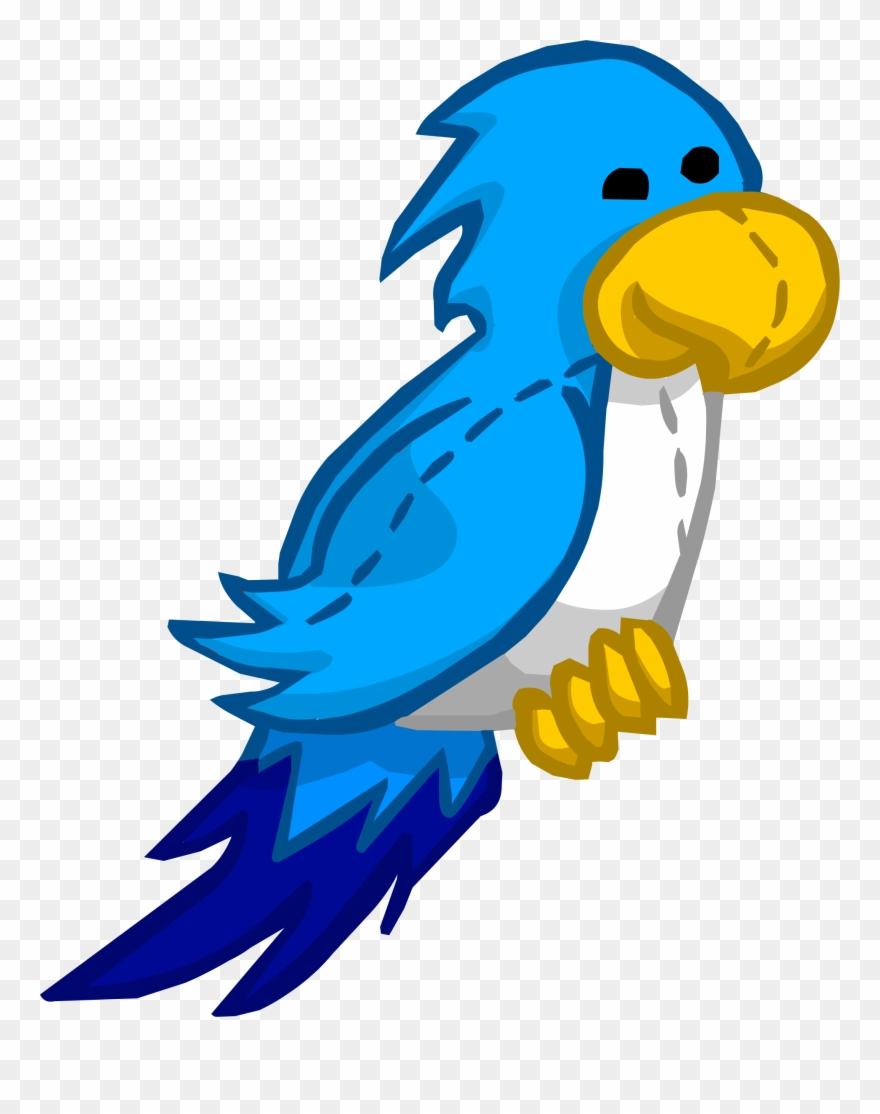 Blue parrot clipart clip art black and white Parrot Clipart Blue Parrot - Captain Rockhopper Club Penguin - Png ... clip art black and white