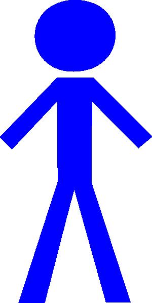 Blue person clipart