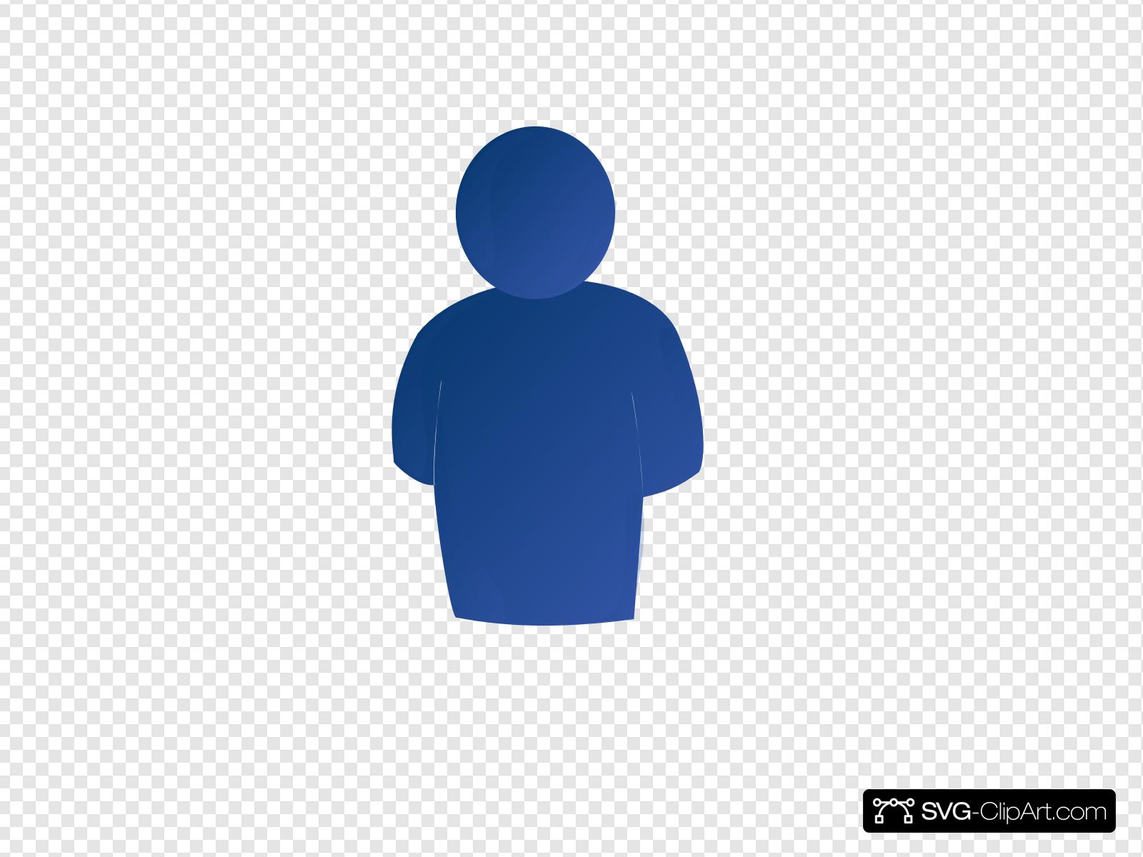 Blue person clipart image transparent Blue Person No Shadow Clip art, Icon and SVG - SVG Clipart image transparent