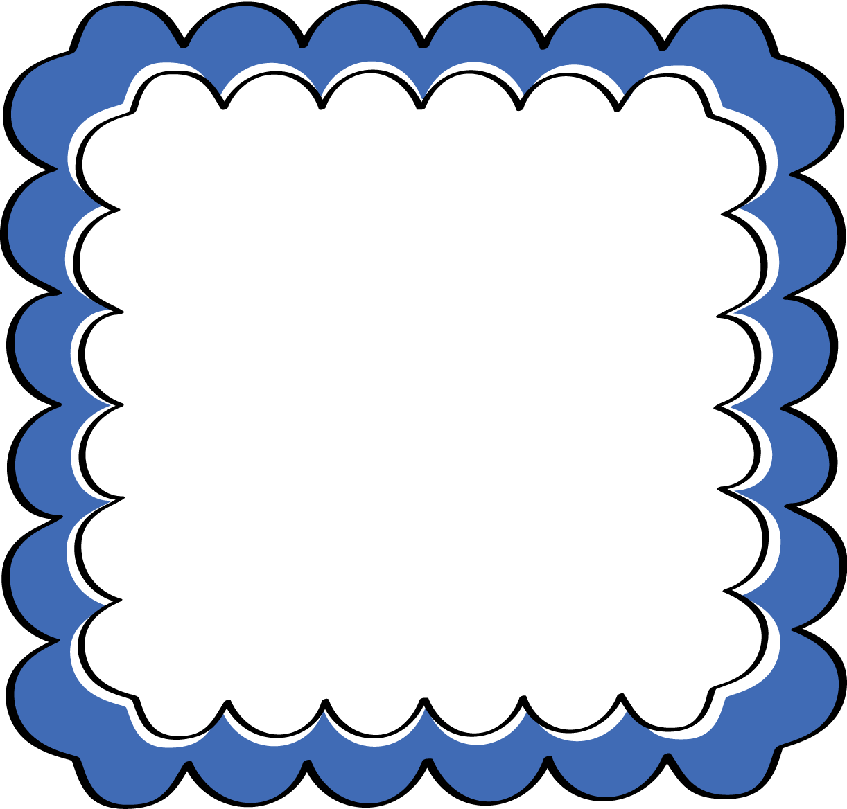 Blue photo frame clipart picture free library Blue Frame Cliparts - Cliparts Zone picture free library