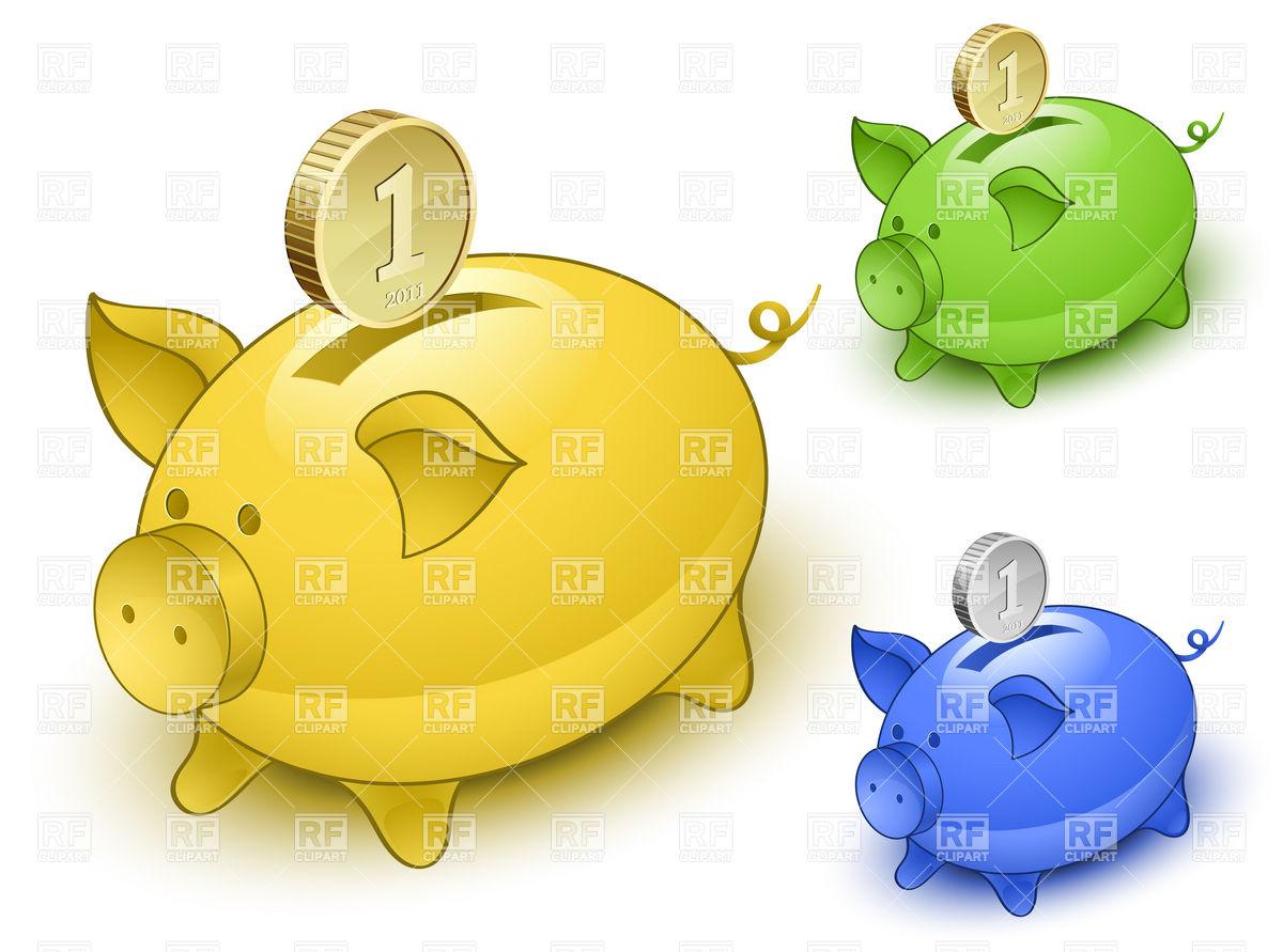 Blue piggy bank clipart graphic freeuse download Savings - Piggy bank Vector Image #5883 – RFclipart graphic freeuse download