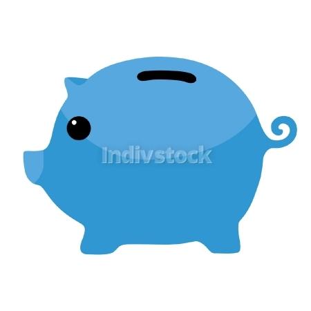 Blue piggy bank clipart svg transparent Blue Piggybank Clipart Vector Art Banking Finance Symbol Logo ... svg transparent