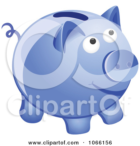 Blue piggy bank clipart banner royalty free download Clipart 3d Blue Piggy Bank - Royalty Free Vector Illustration by ... banner royalty free download