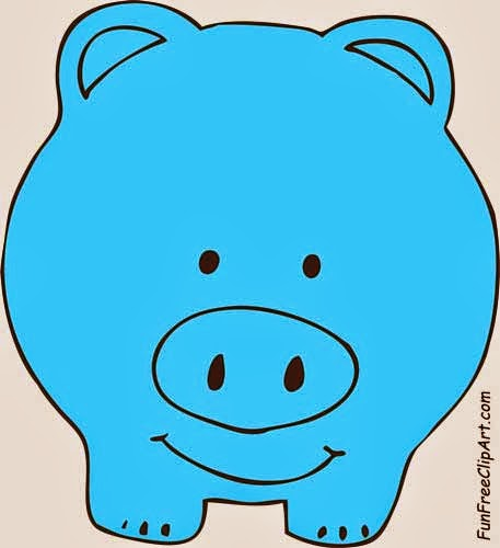 Blue piggy bank clipart svg royalty free download Cute Piggy Bank Clipart | Clipart Panda - Free Clipart Images svg royalty free download