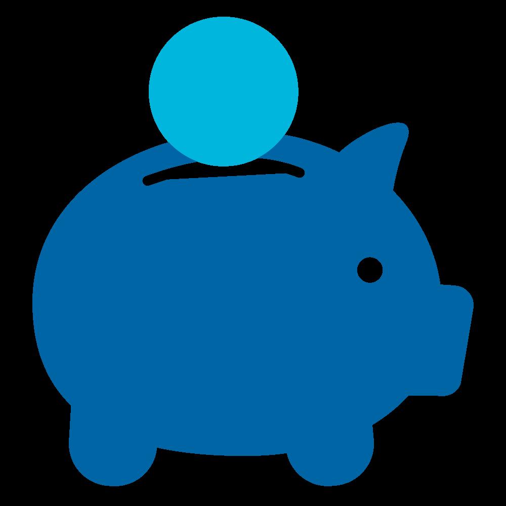 Piggy bank saving money clipart clip art transparent download Blue piggy bank clipart - ClipartFest clip art transparent download